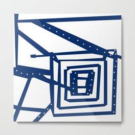 Square path Metal Print