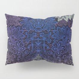 lace weave in deep blues Pillow Sham