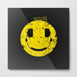 Music Smile V2 Metal Print