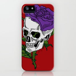 Darkness In Bloom iPhone Case
