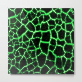 Green Inferno Magma Metal Print