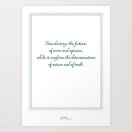 Cicero Inspirational Quote Art Print Art Print