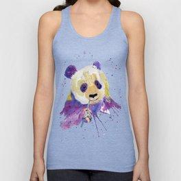 Purple Panda Bear Unisex Tank Top