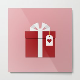 red giftbox Metal Print