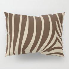 Zebra Stripes | Chocolate Brown and Beige Pillow Sham