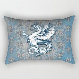 Noble House STEEL BLUE / Grungy heraldry design Rectangular Pillow