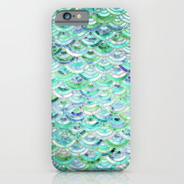 Marble Mosaic in Mint Quartz and Jade iPhone Case