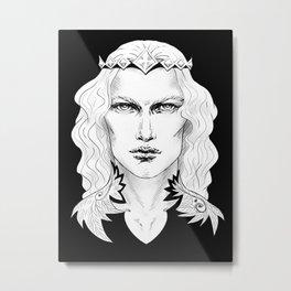 Fairy Prince Black Metal Print