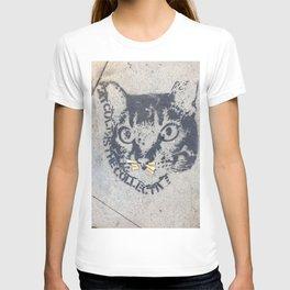 A Cat with cigarette butt whiskers T-shirt