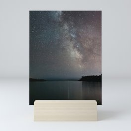 The Milky Way above Black Beach Minnesota | Nature and Landscape Photography Mini Art Print