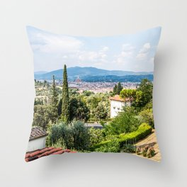 Florence from a Distance  Throw Pillow