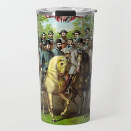 Prominent Union and Confederate Generals and Statesman Travel Mug