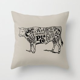 Cow Cuts Throw Pillow