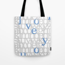 The ABC of i love you. In Blue.  Tote Bag
