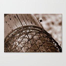 Fallen Fence Post Canvas Print
