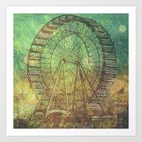 ferris wheel Art Prints featuring Ferris Wheel by Creative Vibe
