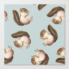 squirrel pattern Canvas Print