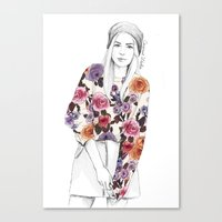 gemma correll Canvas Prints featuring Gemma Sketch by Coconut Wishes