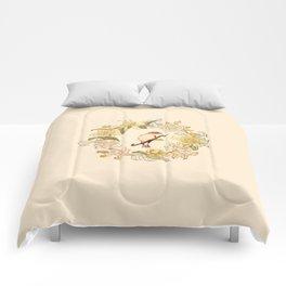 Antique Bird and Wreath Comforters