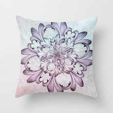 Floral abstract . Throw Pillow