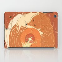 foxes iPad Cases featuring Foxes by Beesants