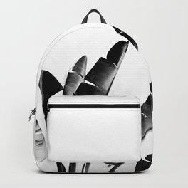 Traveler palm - bw Backpack