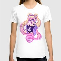 pastel goth T-shirts featuring Pastel Goth Usagi (Glasses ON) by Gunkiss