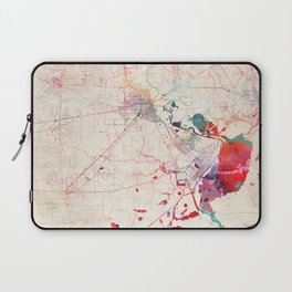 Beaumont map Texas painting square Laptop Sleeve