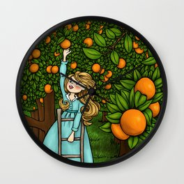 Orange Afternoon Wall Clock