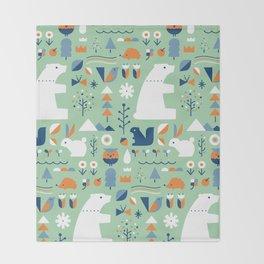 Forest animals Throw Blanket