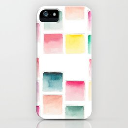 Summer Paint Chips Flat Lay Photograph iPhone Case