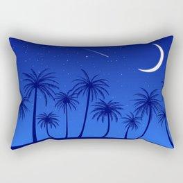 Blue Island Starry Sky Rectangular Pillow