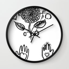 Shaker Symbols Wall Clock