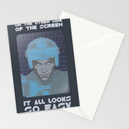 Tron - on the other side of the screen Stationery Cards