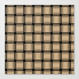Large Tan Brown Weave Canvas Print