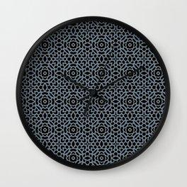 Lattice Blue Wall Clock