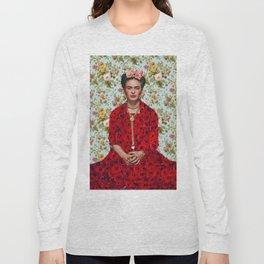Flowers Frida Kahlo VIII Long Sleeve T-shirt