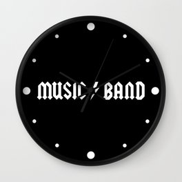 Generic Music Band Quote Wall Clock