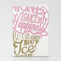 philosophy Stationery Cards featuring Ice cream eater's philosophy by eli*