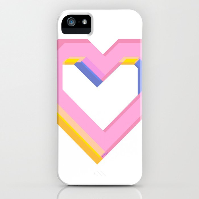 Happy heart iPhone Case