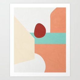 Color and Shape - Kraków, Poland Art Print