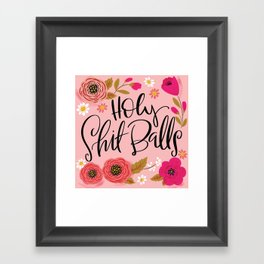 Pretty Swe*ry: Holy Shit Balls Framed Art Print