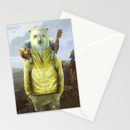 bear-tourist Stationery Cards