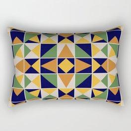 Colorful Ceramic Tile Rectangular Pillow