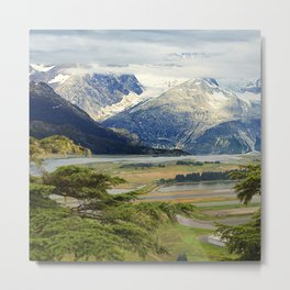 Alaskan Fairytale Landscape Scenic Mountains & Valley Metal Print