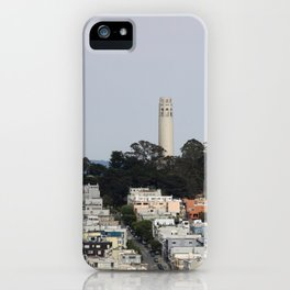 Streets Of San Francisco With Coit Tower iPhone Case