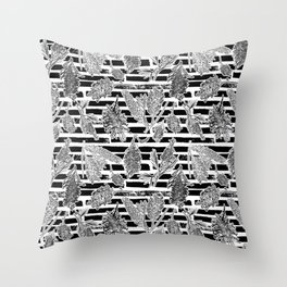 Beautiful Black and White Australiana Print Throw Pillow