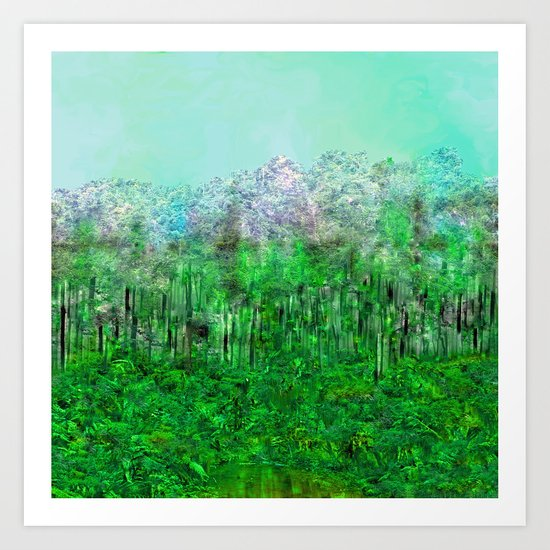 On Lilypads in Algae Ponds Art Print