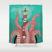 sleep Shower Curtains featuring Sleep by Arron Croasdell