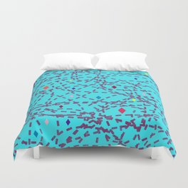 Abstract #150 Diamonds and Dashes Duvet Cover
